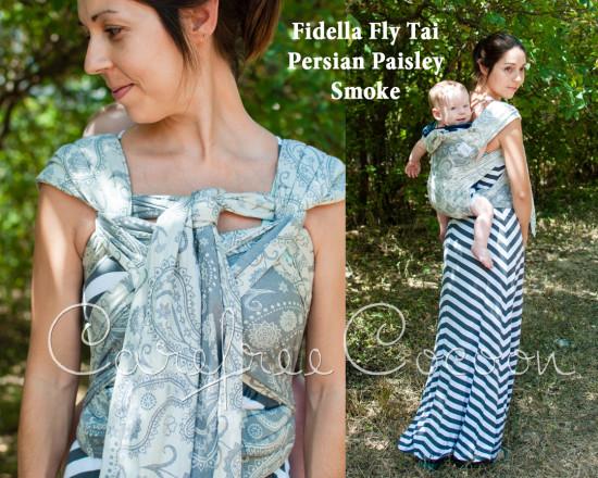 Fidella Fly Tai Persian Paisley Smoke mei tai grey Carefree Cocoon 01