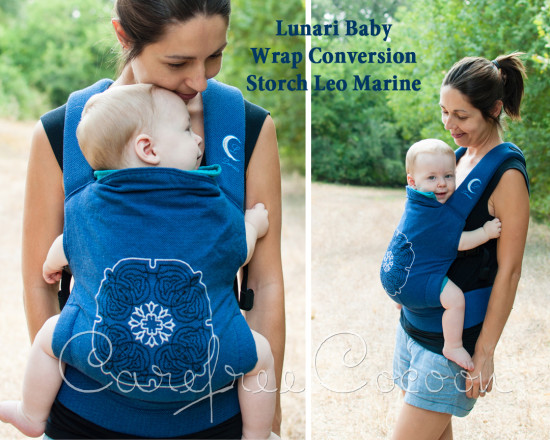Carefree Cocoon Lunari Baby SSC Wrap Conversion Full Buckle Storchenweige Storch Leo Marine 01