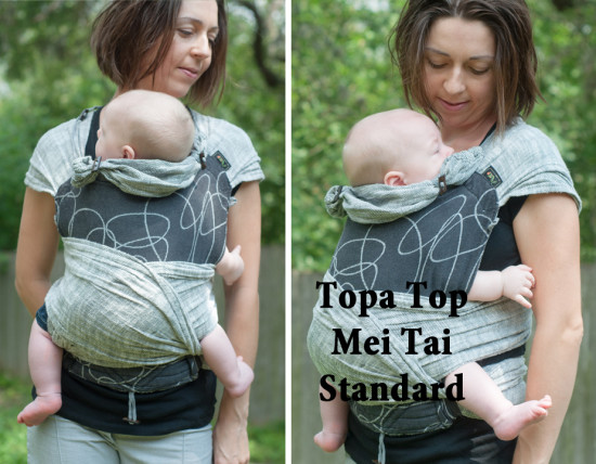 Topatop Topa Top mei tai standard Didymos Athracite Ellipsen Ellipses linen grey Carefree Cocoon 01