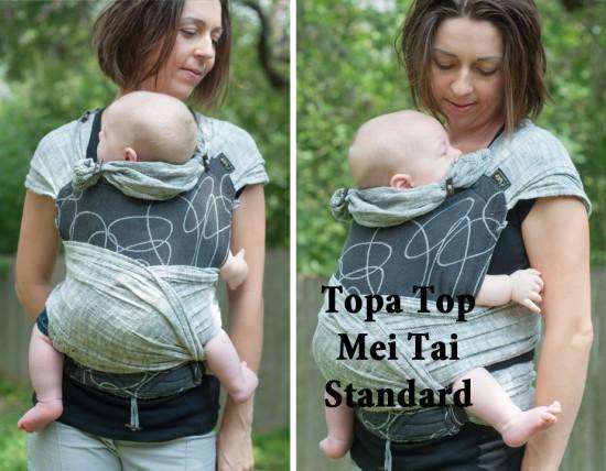Topatop Topa Top mei tai standard Didymos Athracite Ellipsen Ellipses linen grey Carefree Cocoon 01