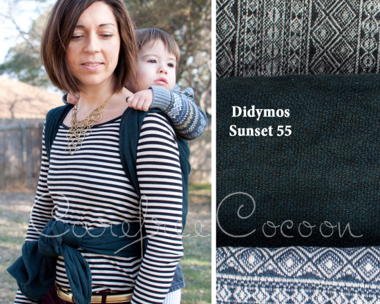 Carefree Cocoon Didymos Linen 55 Sunset DYED black grey woven wrap 01