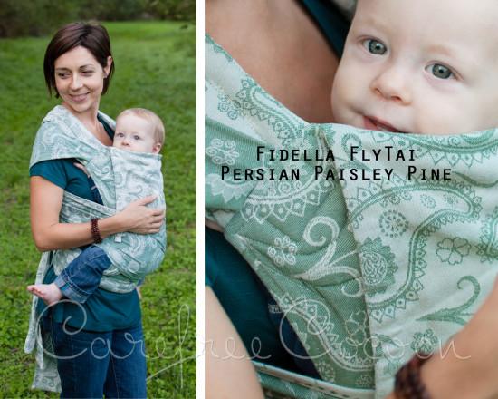 Fidella Fly Tai Persian Paisley Pine mei tai Carefree Cocoon 01
