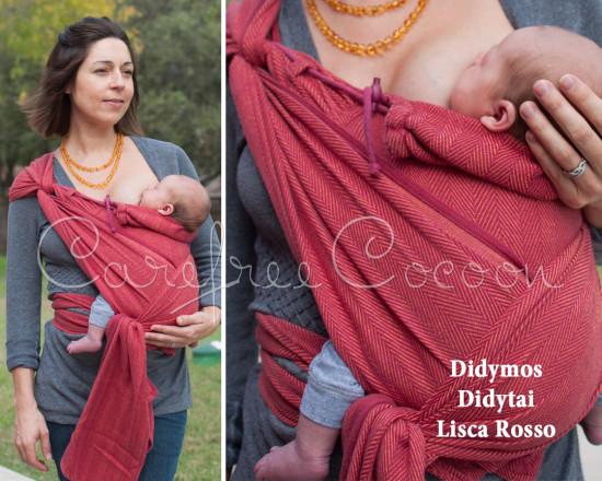 Didymos Didytai Lisca Rosso wrap conversion mei tai red Carefree Cocoon 01