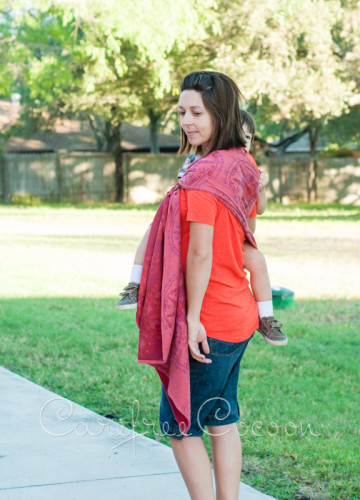 Didymos Stella Adventus ring sling Carefree Cocoon 06