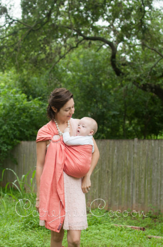 Vienna Springs Dupioni Silk Ring Sling blush Carefree Cocoon 06