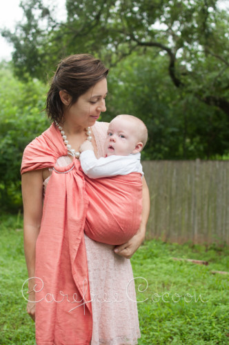 Vienna Springs Dupioni Silk Ring Sling blush Carefree Cocoon 05