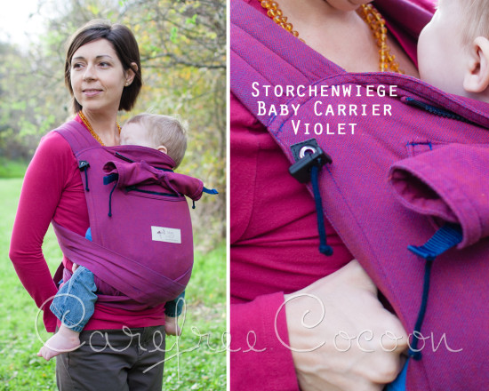 Storchenweige Storch Baby Carrier Mei Tai Violet Review Carefree Cocoon 01