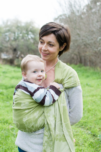 Natibaby Hemp Clovers Ring Sling