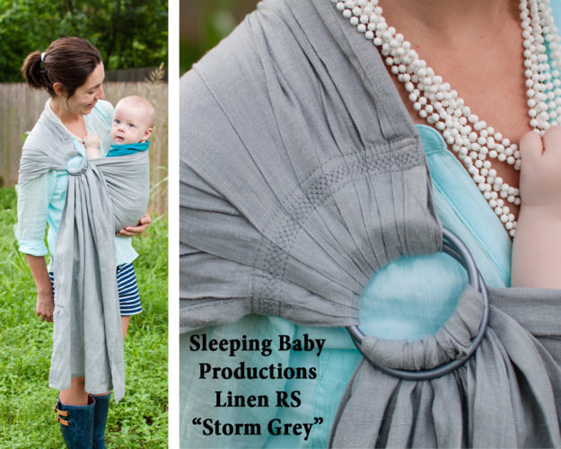 Sleeping Baby Productions SBP Linen ring sling grey gray 01