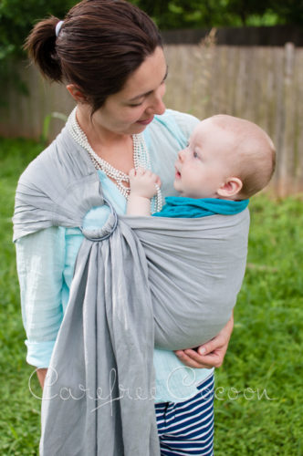 Sleeping Baby Productions SBP Linen ring sling grey gray 04