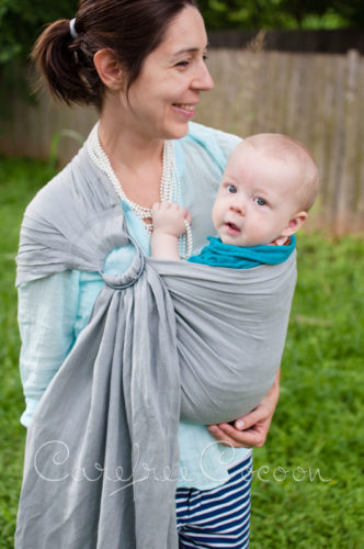 Sleeping Baby Productions SBP Linen ring sling grey gray 05