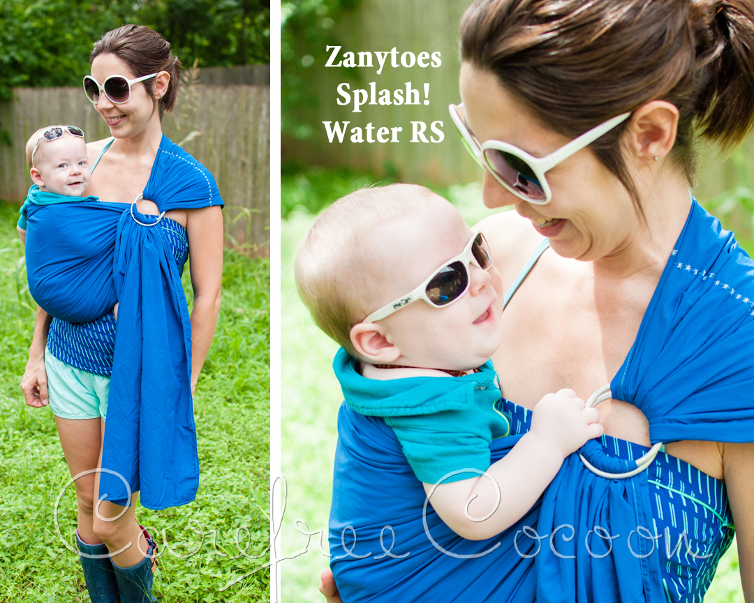 Zanytoes Splash Royal Blue Ring Sling Summer Water Baby Carrier