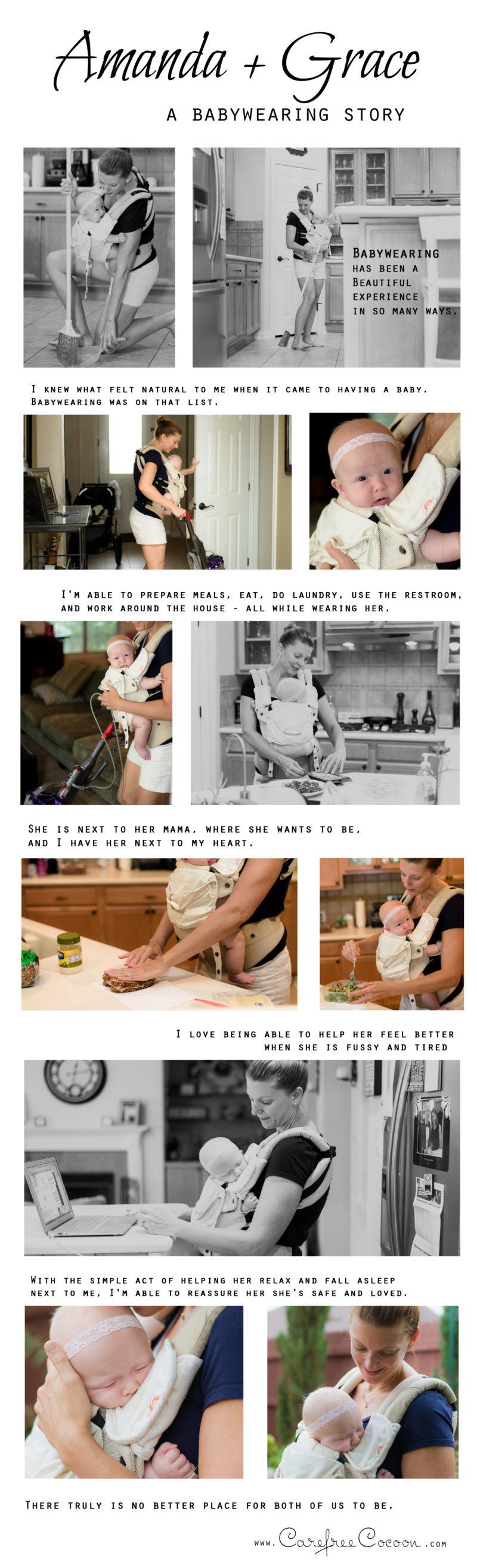 Amanda babywearing collage